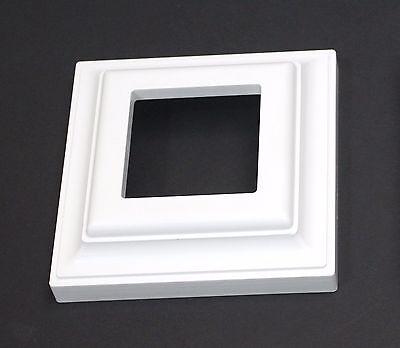 White Plastic Deck Railing Column Post Base Trim Ring 3 x 3 for PVC Vinyl  Vinyl Deck Railing
