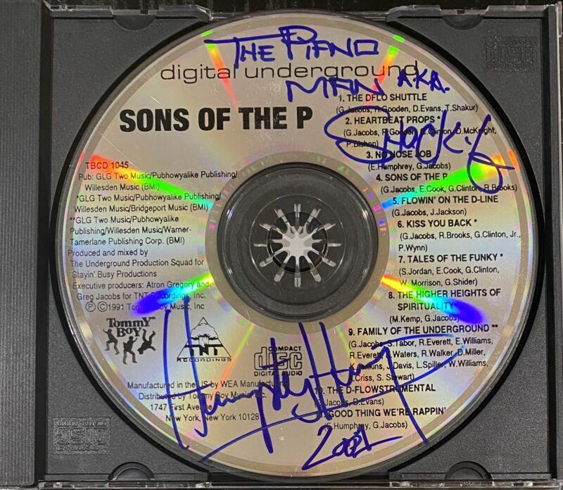 Shock G Humpty Hump Signed Autograph Digital Underground CD RARE INSCRIPTION🔥🔥