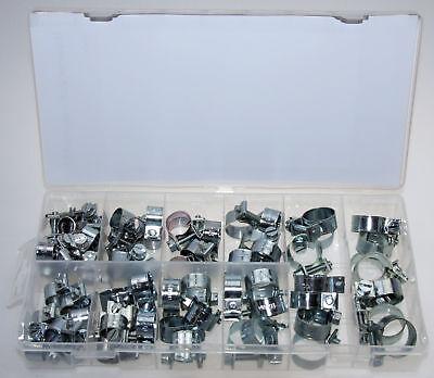 Mini Schlauchklemmen-Sortiment Rundziehende Schlauchschellen Satz 7-18 mm 60-tlg