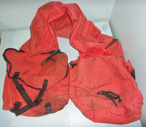 Smith & Edwards Safety Orange Nylon Saddle Bags Bedroll Bag Hunting Horse Tack