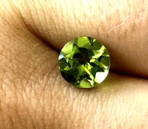 EGL USA 1.81 Ct Green Peridot Natural Loose Gemstone August Birthstone Round Cut