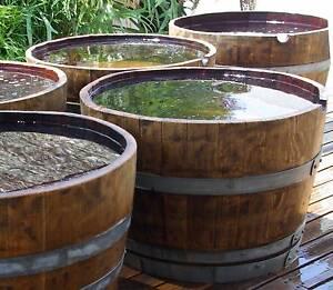 WINE BARREL PLANTERS / POND / HALF BARRELS Wodonga Wodonga Area Preview