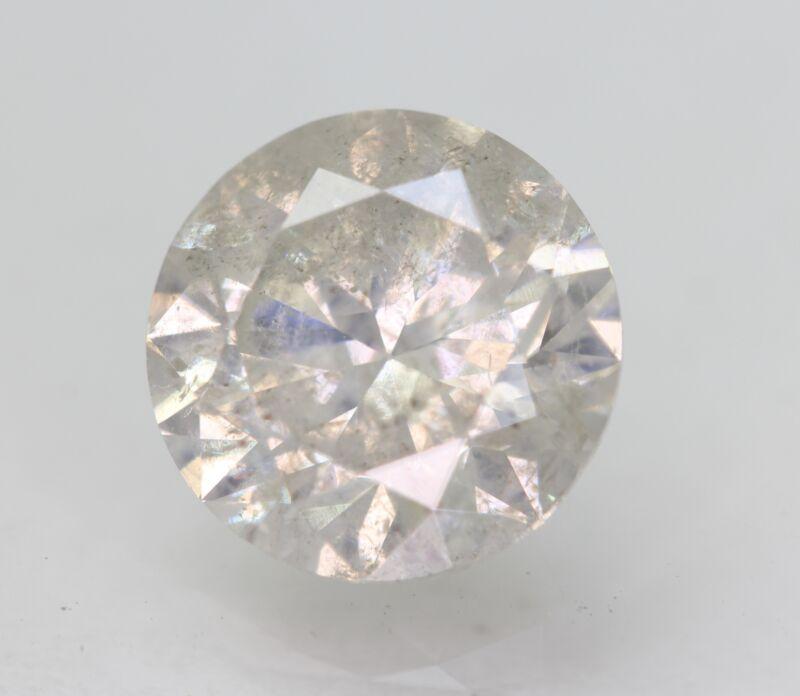 Certified 2.37 Carat G SI3 Round Brilliant Enhanced Natural Loose Diamond 8.42mm
