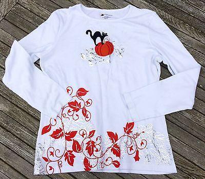Halloween Tshirts Designs (Halloween T Shirt L White 100% Cotton Never Worn Designers Originals)
