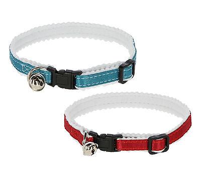 Katzenhalsband reflektierend Sicherheitsverschluss gepolstert Halsband Katze ()