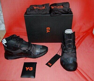 NIB Y-3 ADADIS YOHJI YAMAMOTO Mens Kozoko black Leather Mid Top Sneakers US 9