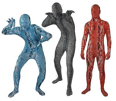 Ganzkörper Schlangenkostüm Karneval Gruppen-Kostüm in den blau, grau oder rot!