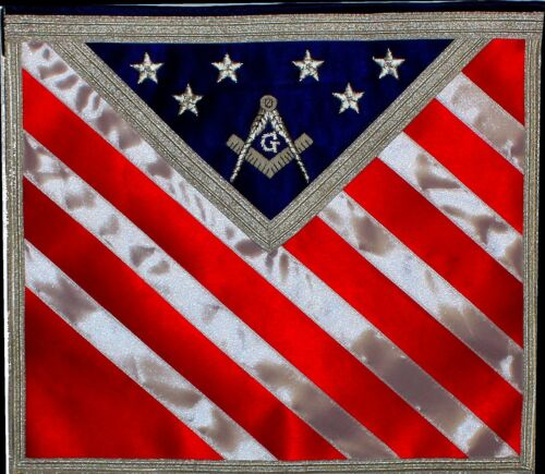 Blue Lodge Patriotic American Masonic Freemason U.S. Flag Apron