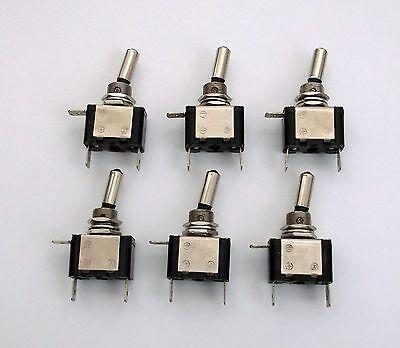 Lot of 6 BBT Marine Grade Lighted Blue 12 volt LED 20 amp Toggle Switches
