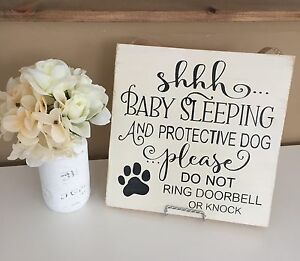 Handmade Shhh... Baby Sleeping Sign