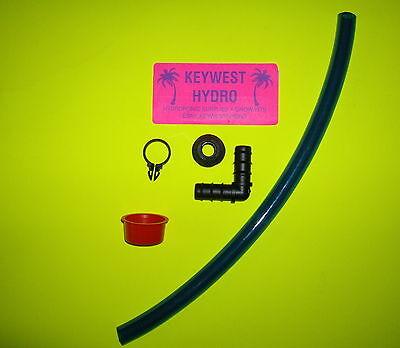HYDROPONIC SIGHT LEVEL TUBE DRAIN KIT& FILL SPOUT CAP FOR RESERVOIR  BUCKET      - Fill Tube Kit