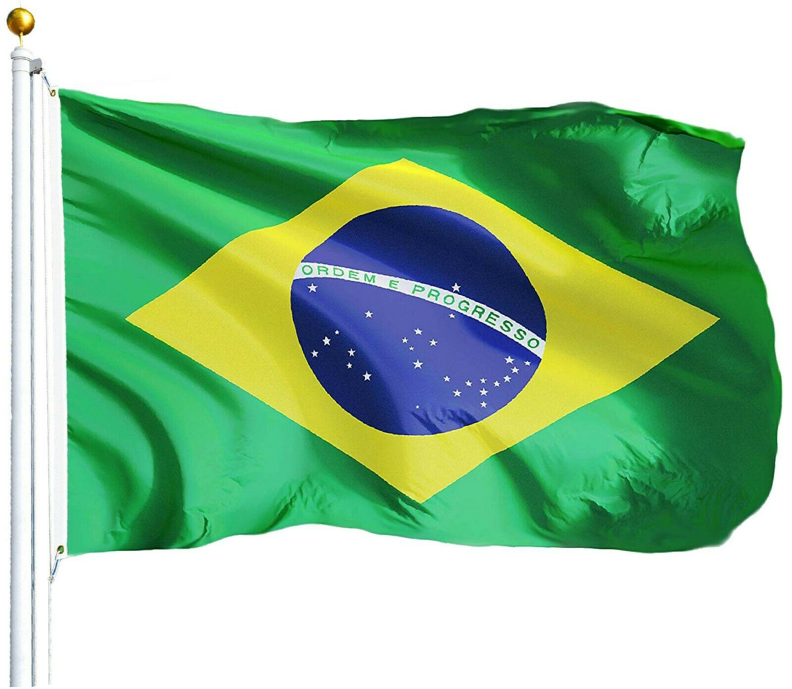 Brazilian Flag Brazil National Banner Polyester 3x5 Foot Cou