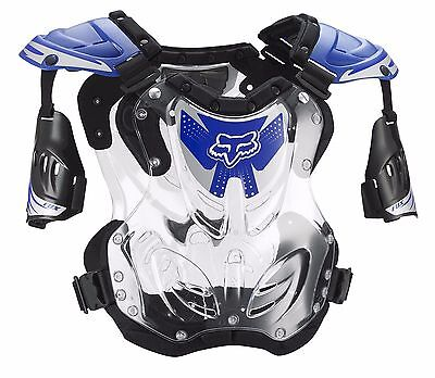 Fox Racing R3 Roost Deflector Chest Protector Motocross Blue SIZE LARGE ()