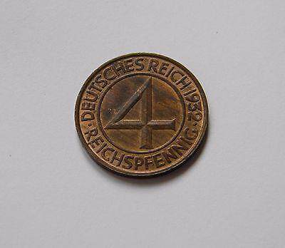 WEIMAR: 4 Reichspfennig 1932 A, J. 315, fast stempelglanz, TOLLER MÜNZGLANZ !!!
