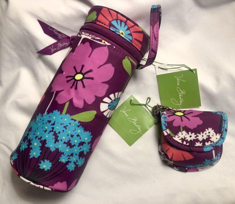 VERA BRADLEY FLUTTERBY 2-Pc Baby Set Bottle Caddy Holder & Pacifier Pod Paci NWT