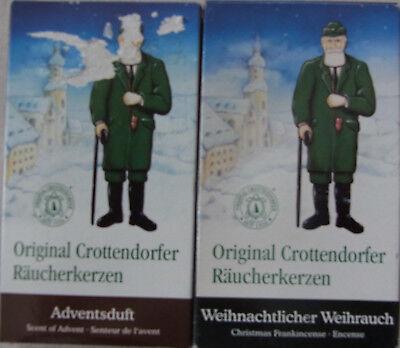 Crottendorfer Räucherkerzen 1 x je 24 x Weihnachtlicher Weihrauch 1x Adventsduft