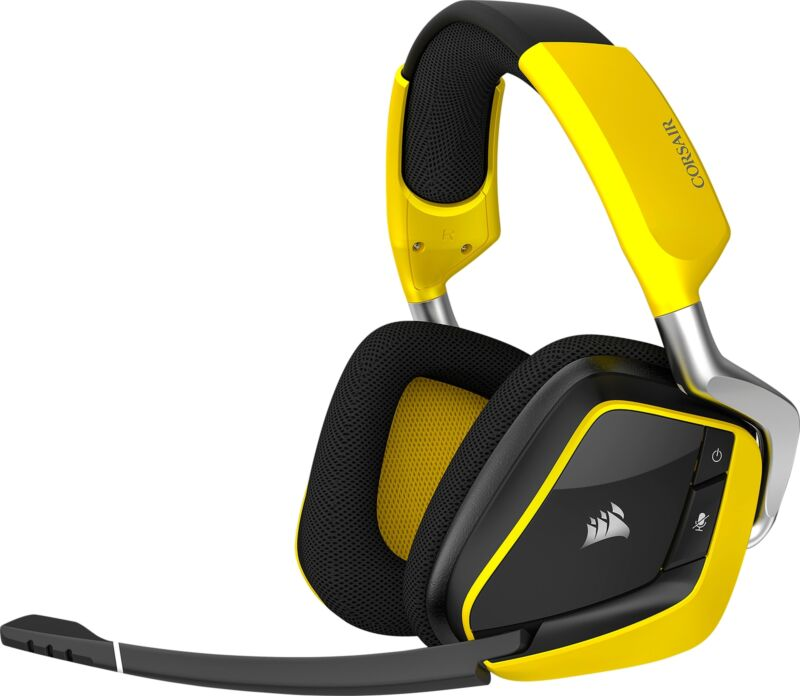 CORSAIR VOID PRO RGB SE Wireless Dolby 7.1-Channel Surround Sound Gaming Headset for PC Yellow CA-9011150-NA