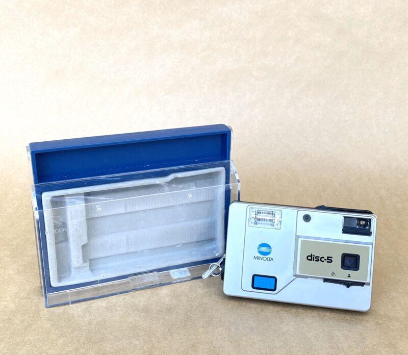 Minolta Disc-5 Vintage Camera W/ Presentation Case, NICE