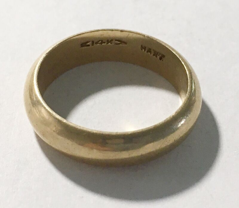Vintage (1950's?) Heavy 14k Yellow Gold Band Ring