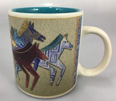 Laurel Burch Wine Things Painted Wild Horses Black Coffee Mug Cup 12 oz 2004