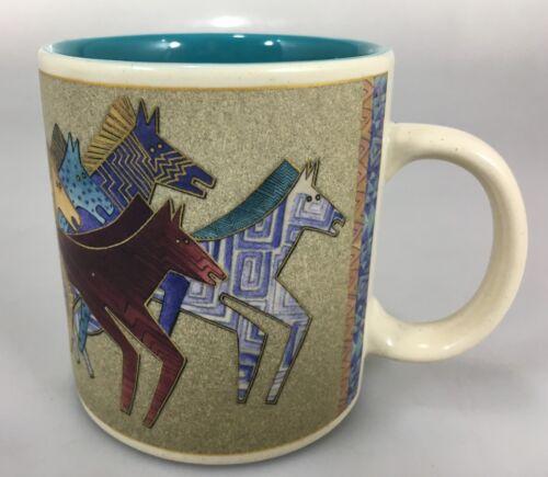 Laurel Burch Wine Things Painted Wild Horses Coffee Mug Cup 12 oz 2004