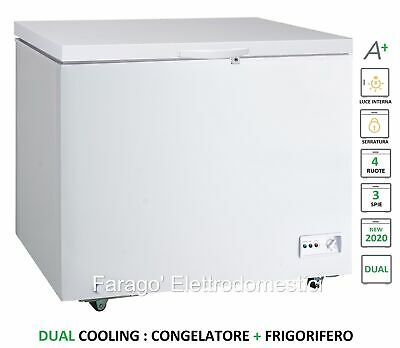 CONGELATORE A POZZETTO ORIZZONTALE POZZO 212 LT LUCE DUAL COOLING A+ ISCO201DCX