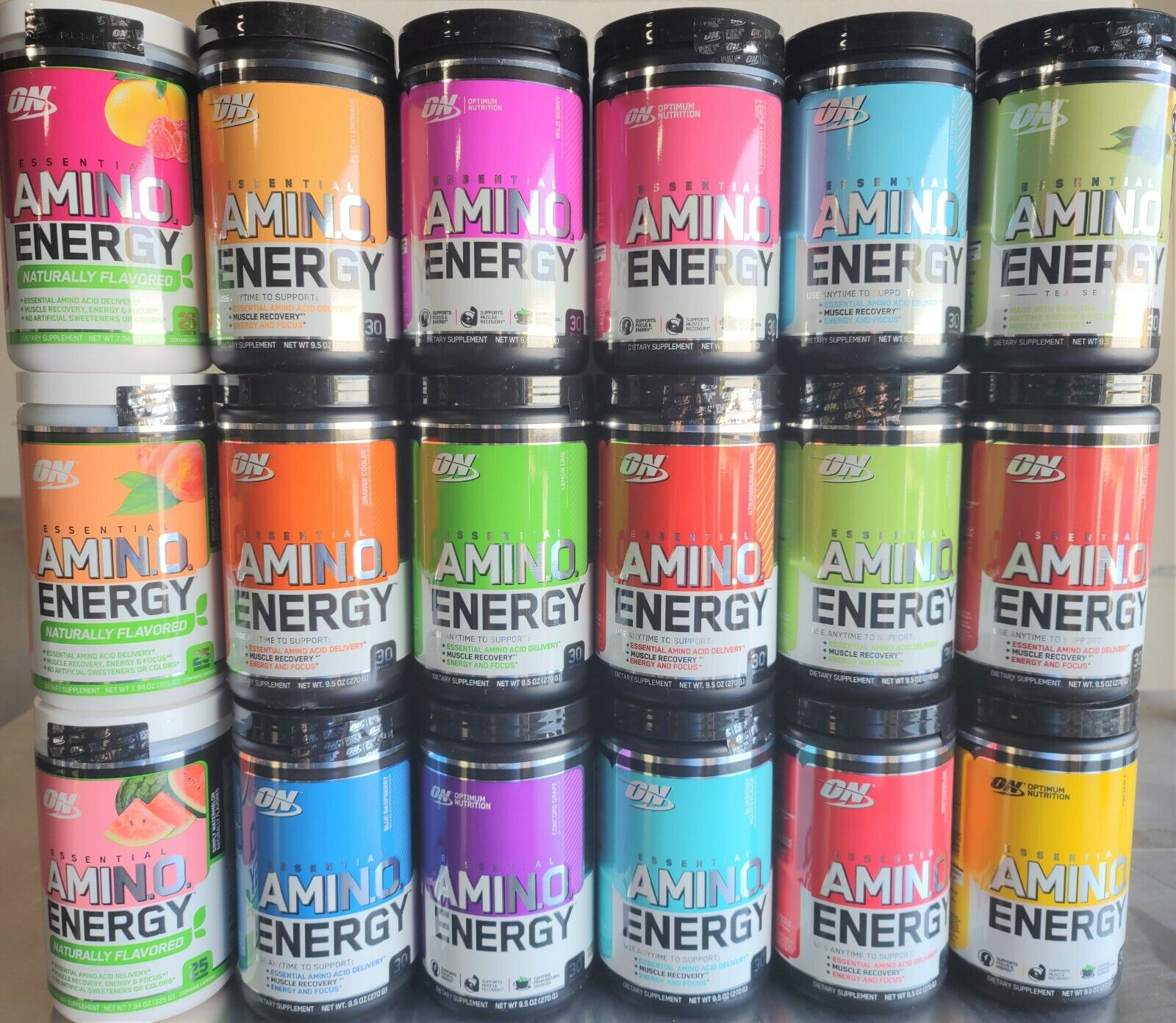 Optimum Nutrition Amino Energy 30 Servings ON Essential Amin.O (All Flavors)