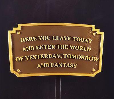 "9"" Magic Kingdom DL Entranceway Plaque Inspired Sign - Dual Color"