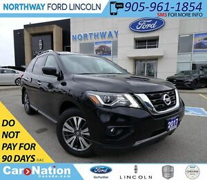 2017 Nissan Pathfinder SV   AWD   BACK UP CAM   3 ROWS   HTD SEA