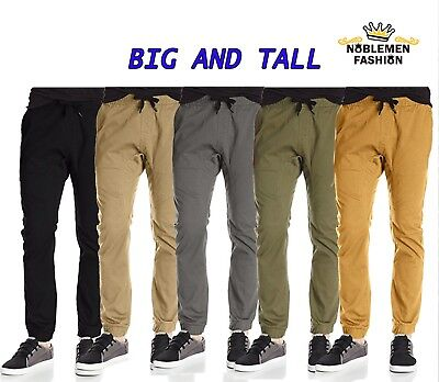 - MEN BIG AND TALL JOGGERS PANTS SOUTHPOLE TWILL STRETCH FIT CASUAL PANTS