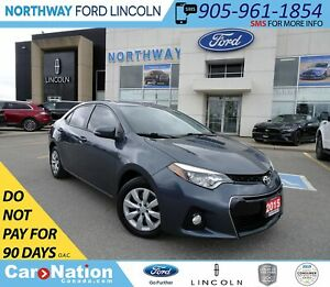 2015 Toyota Corolla S | HTD SEATS | BACK UP CAM | KEYLESS ENTRY