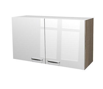 Küchen-Hängeschrank VENEDIG Küchenschrank Oberschrank 100 cm weiss / sonoma