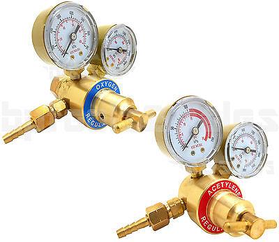Solid Brass Oxygen Acetylene Regulators 4 Welding Fit Victor Gas Torch Cutting