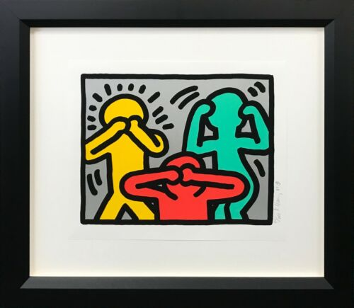 """Keith Haring """"pop Shop Iii (3)"""" 1989 