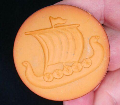 """Rycraft Viking Long Ship Cookie Stamp 2"""" in Diameter"""