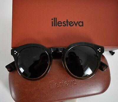 ILLESTEVA *LEONARD 2* Col.64 Tortoise Brown Oversized ROUND Sunglasses 50-23-140
