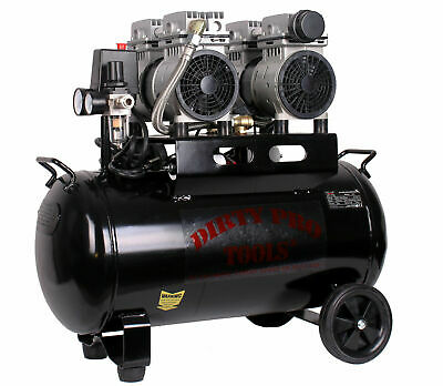 50 Litre Silent Air Compressor Oil Free Low Noise - DIRTY PRO TOOLS - RRP £349