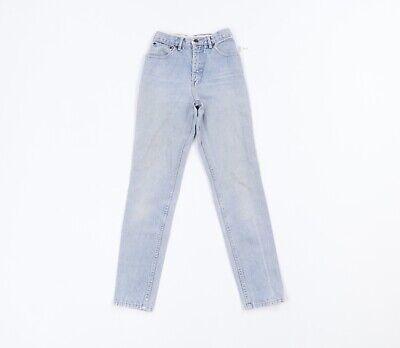 Vintage 80s Coca Cola Womens 24x30 Distressed Faded Skinny Leg Denim Jeans Blue