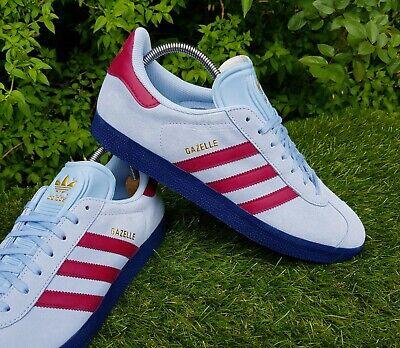 Adidas Originals Gazelle Trainers Claret & Blue West Ham Villa Burnley in UK 11