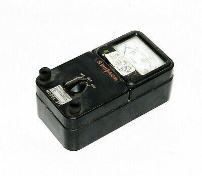Vintage Simpson Brand Ac Voltmeter Model 371