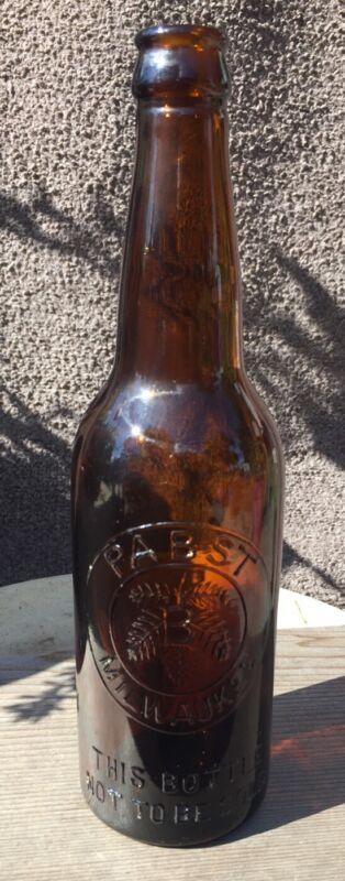 Pre Pro 12oz Embossed Amber PABST MILWAUKEE Beer Bottle