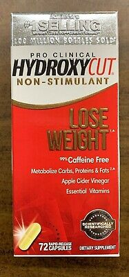 Hydroxycut Pro Clinical Non-Stimulant Lose Weight 72 Rapid Caps Sealed EXP 10/20 Pro Clinical Lose Weight