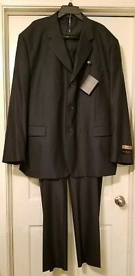 New 54l Mens Suit - NWT Vinci Mens 2 Pc suit Business Work 54L 49W Navy Blue designed in Italy