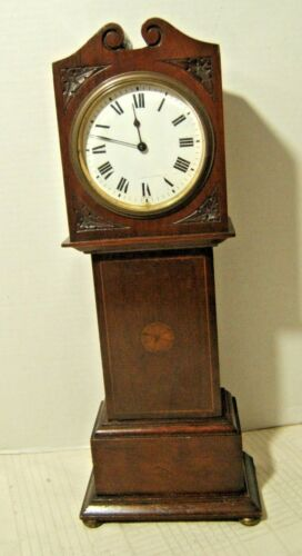ANTIQUE MINIATURE GRANDFATHER CLOCK 19TH CENTURY WORKING VERY NICE