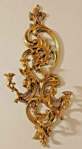 VTG Home Interior 5 Arm Candelabras Hollywood gold  Regency 4049 -35