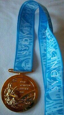 Goldmedaille   XXVII. Olympische Spiele SYDNEY 2000 / am Band  !!  EXTREM SELTEN