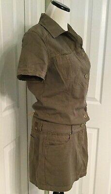 Cute Army Clothes (NWT! Adriano Goldschmied AG Cute Army Green Short Sleeve Jumper Dress Sz L)