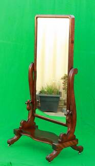 Attractive late Victorian period cheval mirror-Del.Available Atwell Cockburn Area Preview