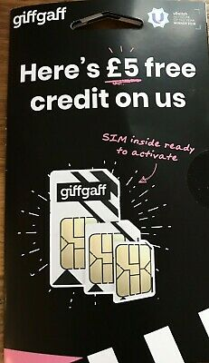 Best value 4g SIM card £5 free top triple cut SIM fits all (Best Sim Card Phones)