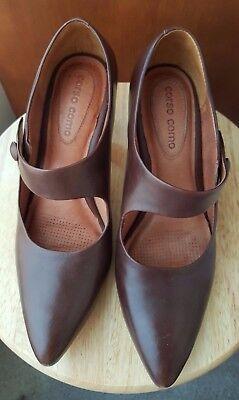 High Heeled Mary Jane Shoes (Corso Como Brown High Heeled Mary Jane Pump 6)